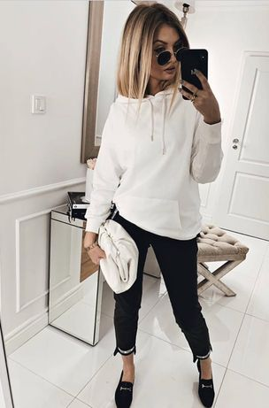 Nowy dres Biały czarny r S/M i L/XL+GRATIS MASECZKA!!!