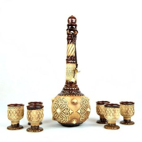 Булава бутылка, набор для спиртного, Булава на свадьбу, керамика, штоф