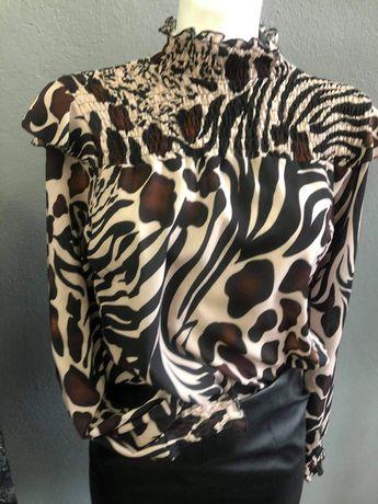 Bluzka koszula półgolf