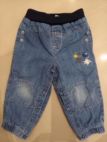 Spodnie jeansy c&a dżinsy ocieplane 80