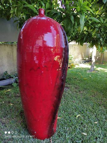 Jarrão vermelho vidrado