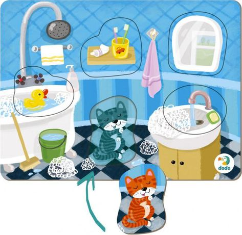 Пазл сортер Dodo Ванная комната 300276,пазл сортер ванная комната Dodo