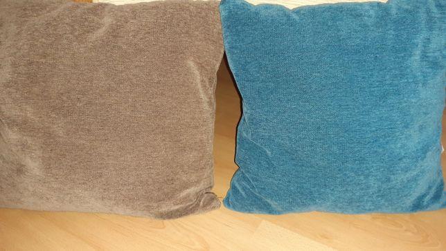 Almofadas Decoração Sofá 1 Castanha e 1 Azul.