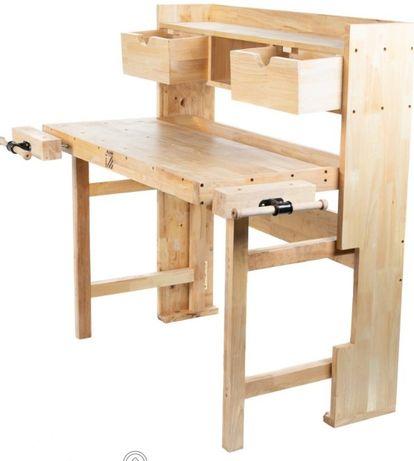 Bancada de Trabalho em madeira carpinteiro c/ módulo superior