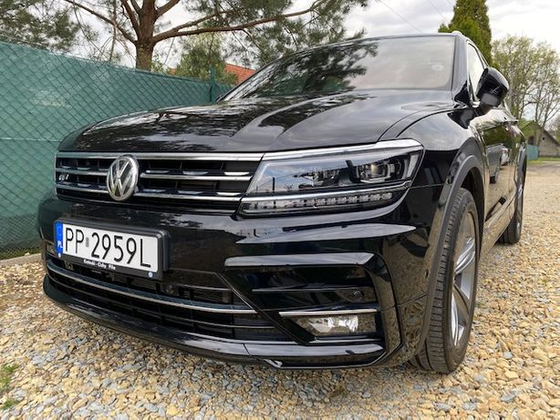 VW Tiguan R-Line 4x4 150KM TDI, serwis ASO, cesja leasingu 10/202