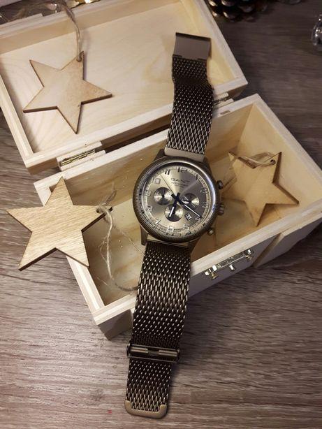 GANT LEXINGTON GT010 brązowy chronograf na bransolecie mesh.