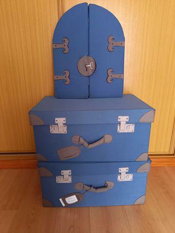 Pack espelho e caixas de arrumação criança/bebé