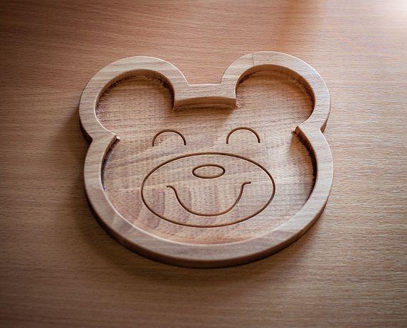 "Тарелка из дерева ""Мишка"""