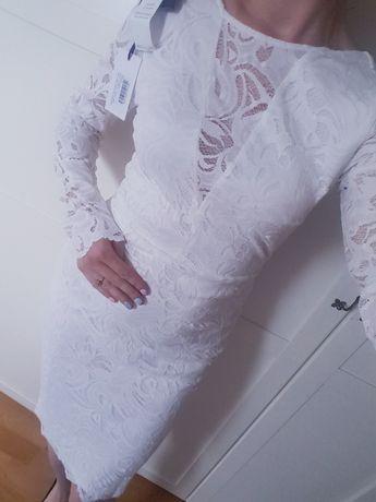Suknia sukienka ślubna cywilny wieczór panieński koronkowa nowa