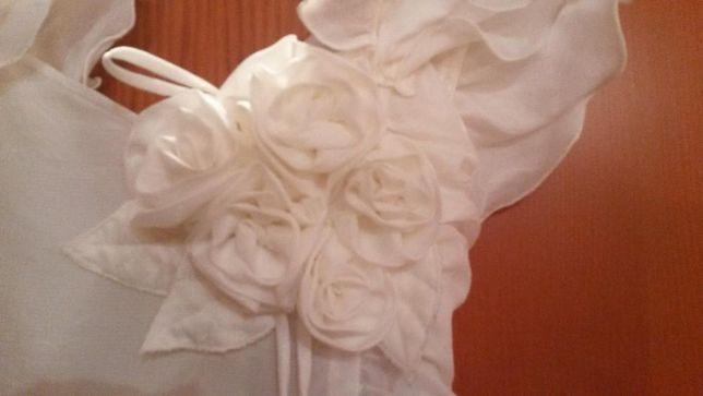 Нарядное белое платье, девочка 10-14 лет, индивид. пошив, на выпускной