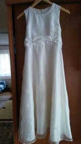 Sukienka dziewczęca kolor ecru