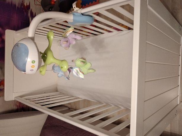 Łóżeczko dziecięce białe + Materac