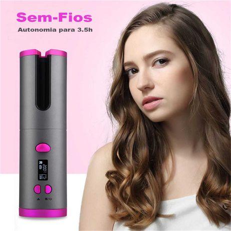 Modelador de cabelo automático portátil usb recarregável ondelação