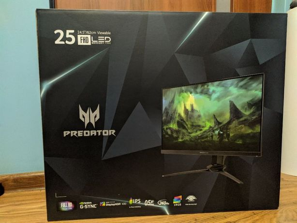 "Nowy Monitor Acer Predator 24,5"" XB253QGXbmiiprzx 240hz/HDR/GSync"