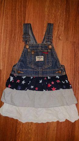 Сарафан джинсовый Osh Kosh с рюшами сарафанчик лето Ош Кош для девочки