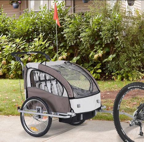 Przyczepka rowerowa dla dzieci amortyzowana
