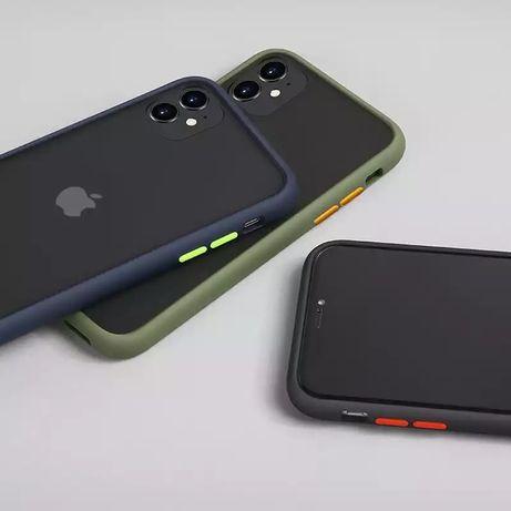 Матовый чехол IPhone 6;6s;6/6s+; 7;7+;8/8+; X; XS; XR; 11
