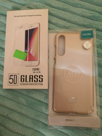 Etui Jelly case Huawei p20 pro i szkło hartowane huawei p20 pro