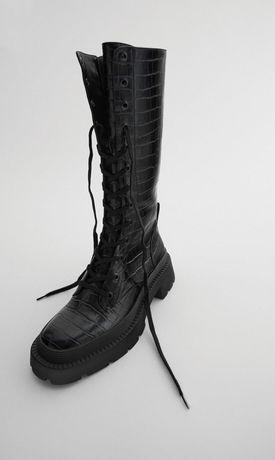 Ботинки сапожки Zara Massimo Duti