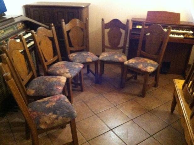 Krzesła dębowe komplet 6 sztuk