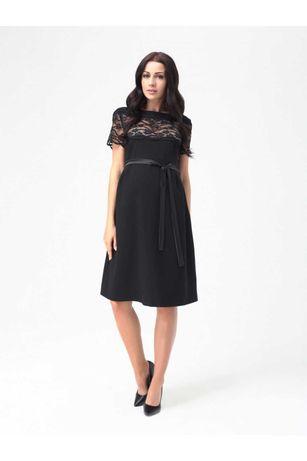 Czarna sukienka ciążowa S M