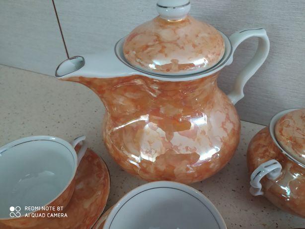 Serwis kawowy porcelana PRL Karolina