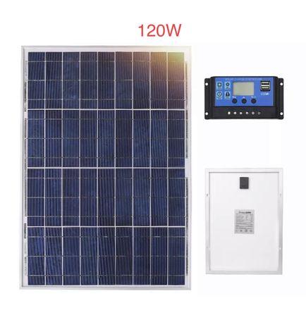 Panel solarny 120 WAT zestaw solar 12V kamper przyczepa