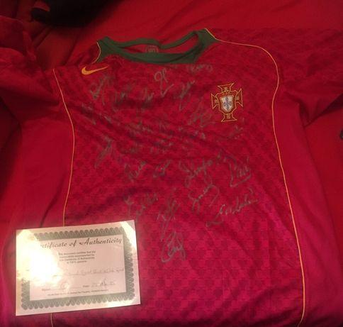 Camisola oficial de Seleccao Nacional ,c /assinaturas dos jogadores