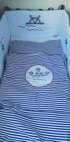 Komplet do łóżeczka Gluck ochraniacz, poszewki