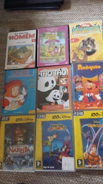 10 dvd's infantis