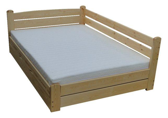 łóżko drewniane z oparciem podnoszone z boku FORTECA 160x220