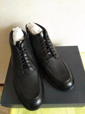Новые мужские/подростковые высокие туфли Clarks. Кожа. 41.5-42р.