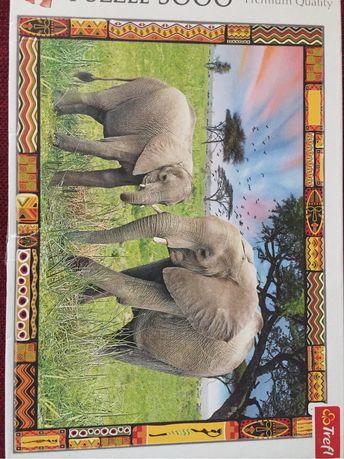 Puzzle Trefl 3000 slonie