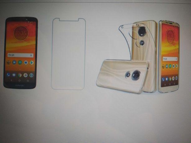Szkło hartowane +etui do Motorola moto G6 play/E5