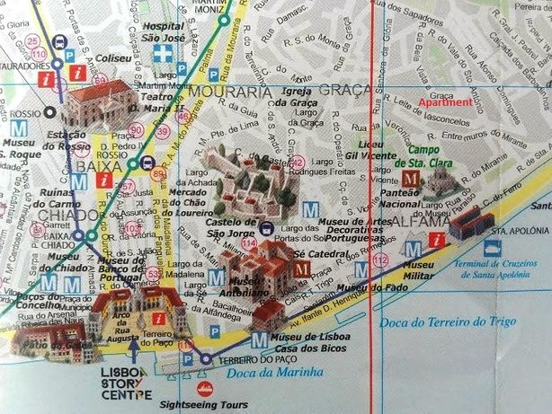 T0+ with parking place in the centre of Lisbon (area 50 m2)