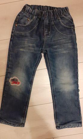 Ocieplane spodnie dla chlopca 110