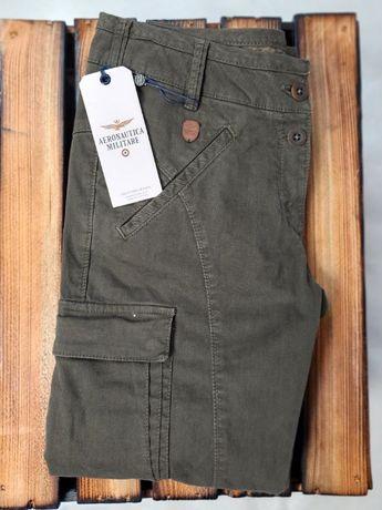AERONAUTICA MILITARE spodnie oliwkowe 38 za 399 zamiast 740 zł
