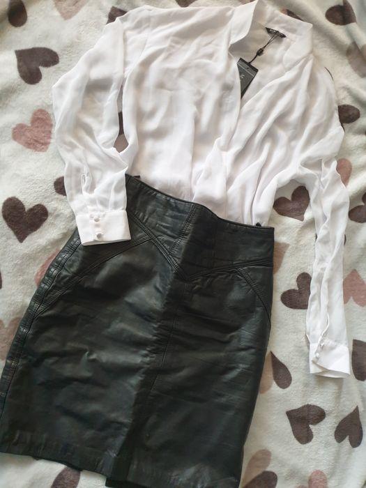 Komplet S koszula body kopertowe spódnica ołówkowa skóra naturalna Katowice - image 1