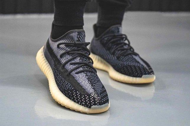 Кроссовки Adidas Yeezy Boost 350 v2 ∎ Carbon ∎ Адидас Изи Бусты