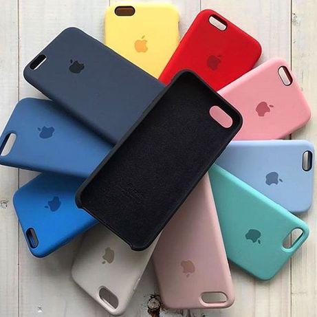 Чехол Silicone Case iPhone 8... •Айфон-apple X Силикон Кейс # 6 7