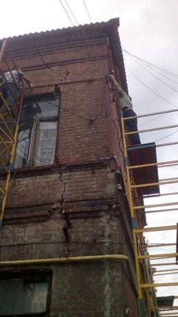 Стяжка стен дома арматурой