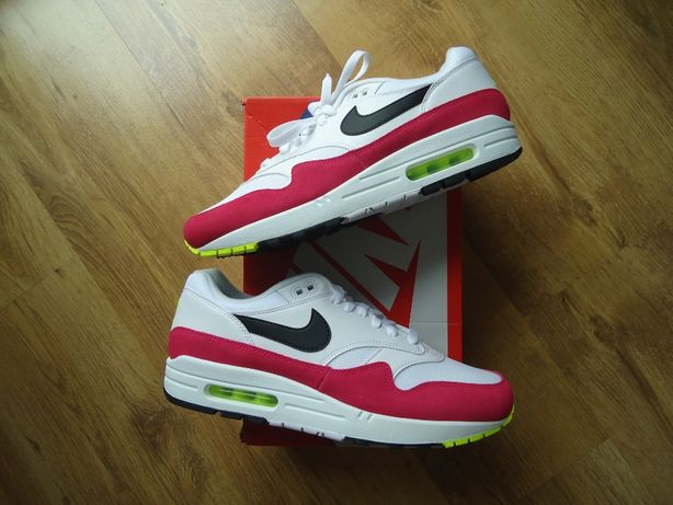 Nike Air Max 1 White Black Volt Rush Pink us8 8,5 10 11