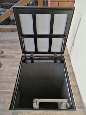 ревизионный напольный люк на амортизаторах под плитку (люки невидимки)