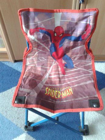 Krzesełko dziecięce składane turystyczne Spider Man małe wędkarza