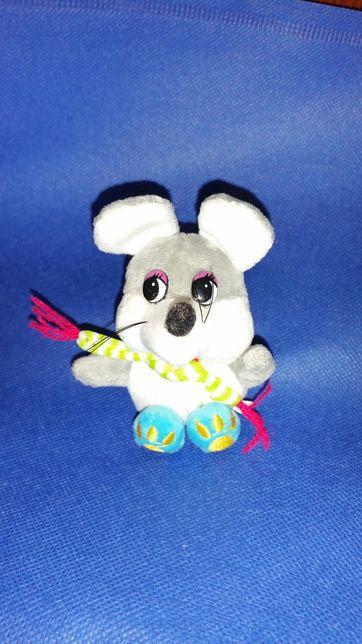 Мышка крыса мягкая игрушка брелок сувенир