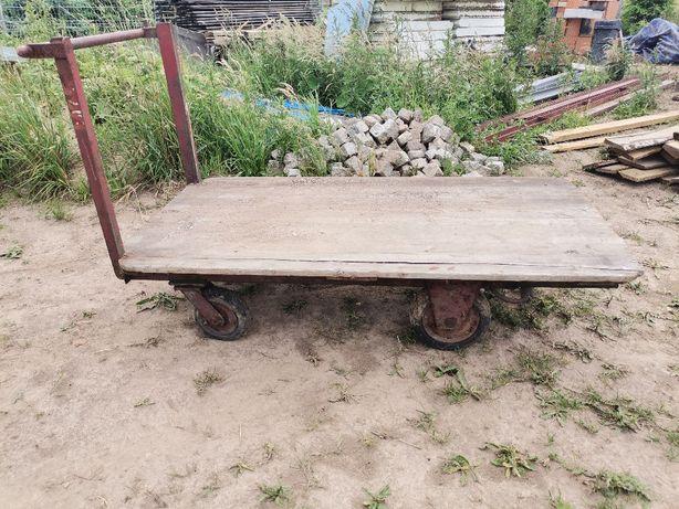 Sprzedam wózek platforma przemysłowy towarowy