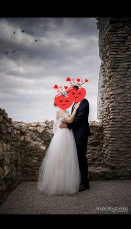 Suknia ślubna z kryszałkami