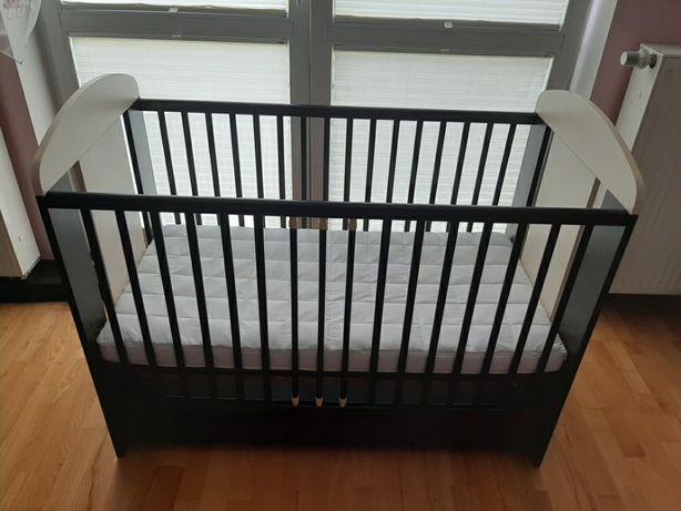 Łóżeczko dziecięce 60x120 / regulowana wysokość + materac