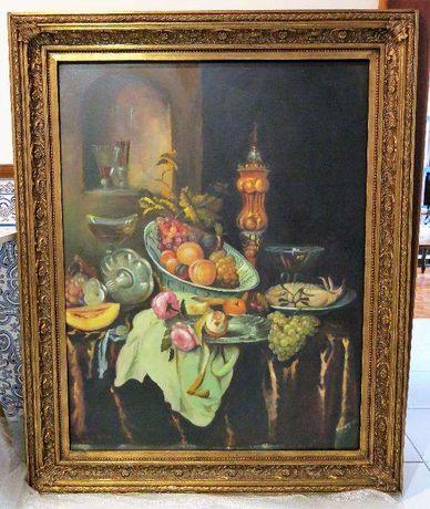 F. Nunes (ORIGINAL), óleo sobre tela de grande porte