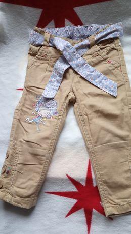Spodnie Next bawełniana podszewka